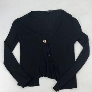 Gucci black ribbed knit cardigan sweater small